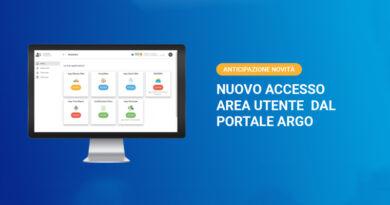 Nuovo accesso AREA UTENTE dal Portale Argo