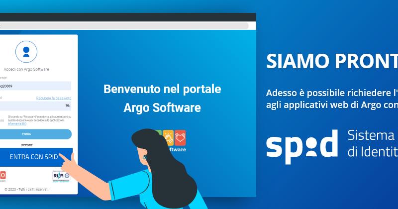 SIAMO PRONTI!Accesso applicativi Argo tramite SPID